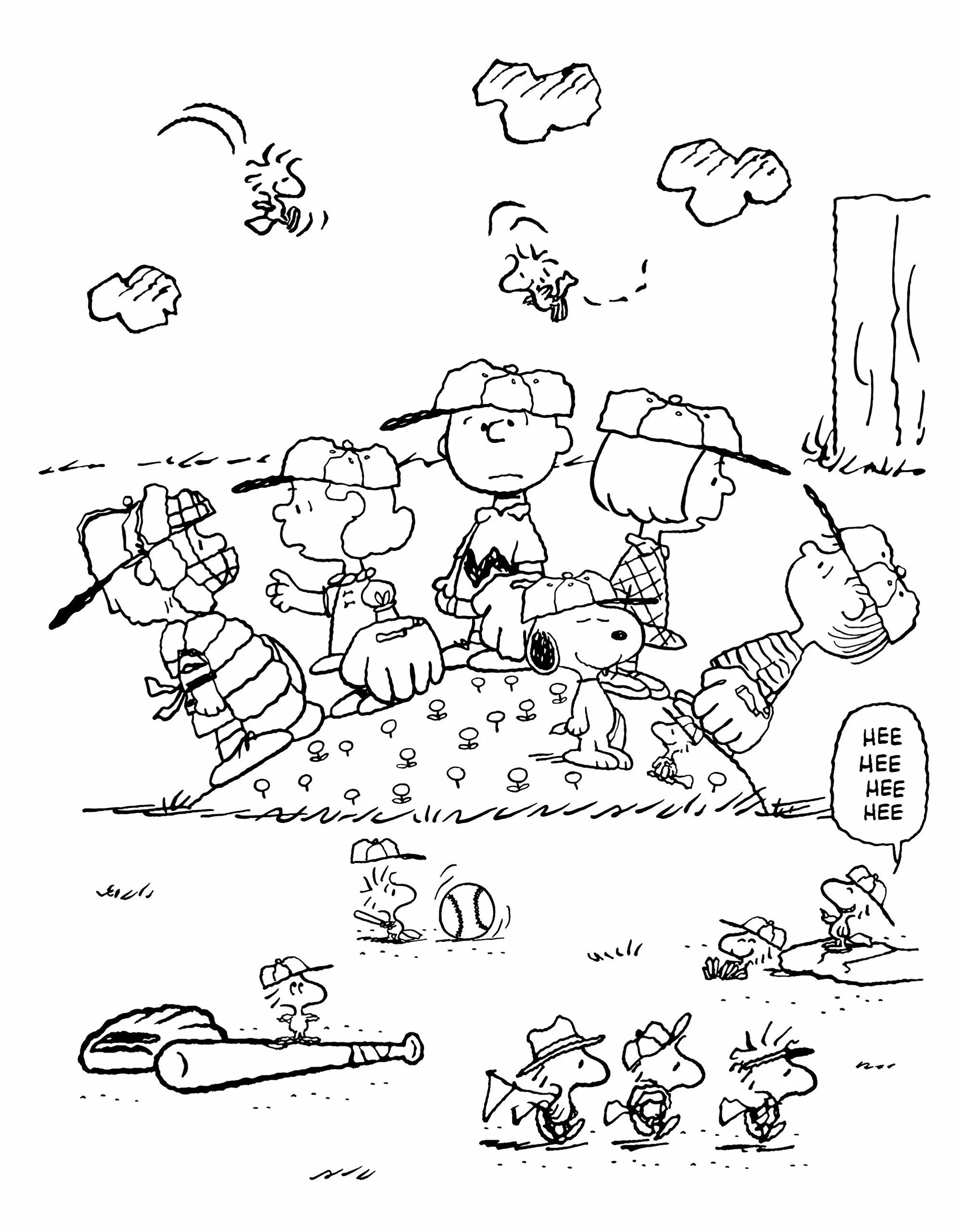 Coloring book for adults SNOOPY and pleasant friends