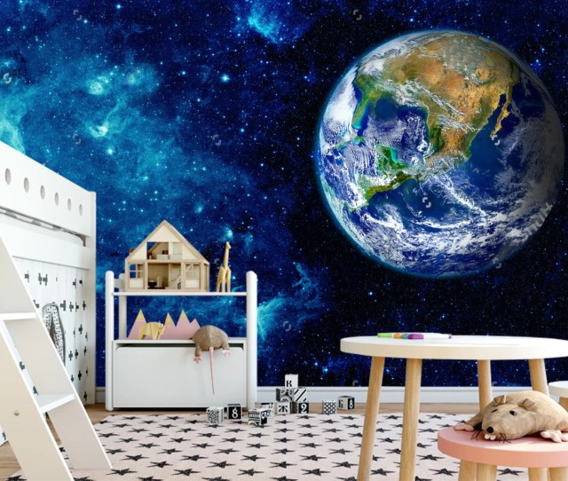 Space Night Sky World Planets Wall Ceiling Kids Sticker Wall Decor Night Space Ceiling Mural Self Adhesive Exclusive Design Photo Wallpaper