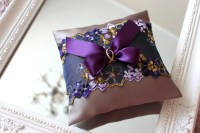 purple wedding ring bearer pillow purple wedding ring
