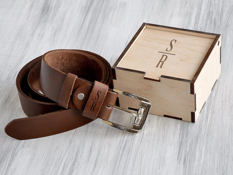 personalized leather belt 3rd