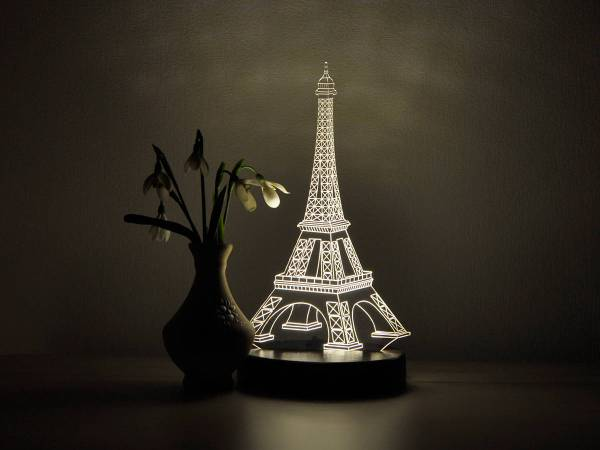 Eiffel Tower Decor Led Night Light 3d
