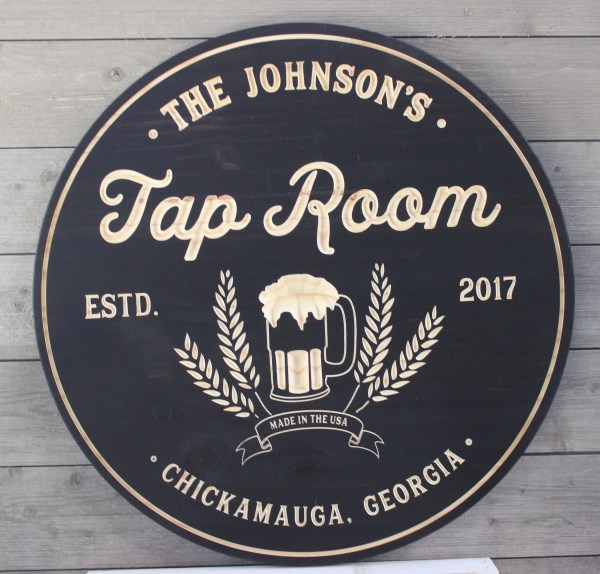 Bar Sign Personalized Tap Room Brewery Man Cave