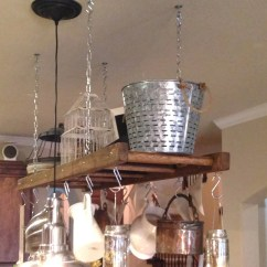 Kitchen Ladder Rooms To Go Sets Island Farmhouse Pot Rack Oversized And Etsy Image 0