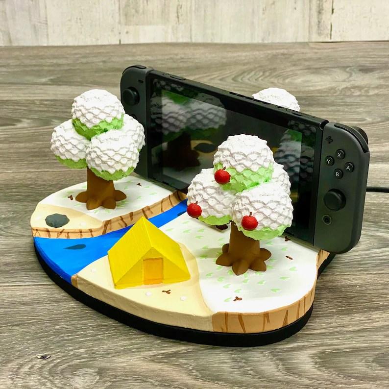 Nintendo Switch Animal Crossing Island Dock 3D Print New image 4