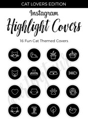 highlight instagram covers story icon icons stories cat etsy highlights insta template custom cute gold place designed pack