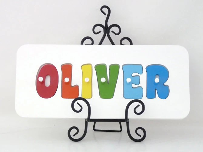 wooden name puzzle personalised