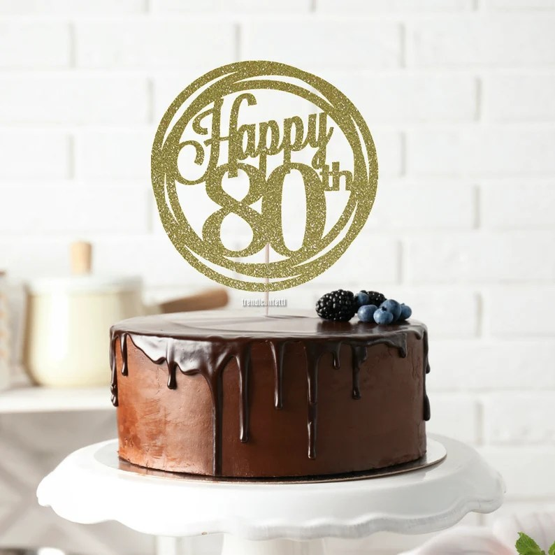 Download Happy 80th SVG Birthday svg 80 Years Loved 80 Years   Etsy