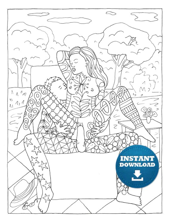 Adult Coloring Books Sex : adult, coloring, books, Instant, Download, Positions, Coloring, Naughty, Adult