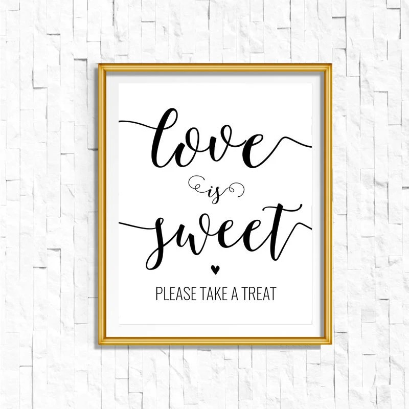 Download Love is Sweet Take a Treat Sign DIY PRINTABLE Instant | Etsy