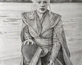 Daenerys Lands on Dragonstone Original Drawing
