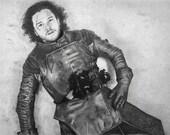 The Death of Jon Snow Original Drawing