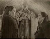 Sansa and Arya Stark Art Print