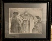 The She Wolves of Winterfell Original Drawing (Framed)