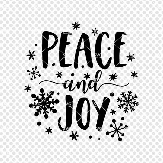 Download Peace and joy SVG Christmas SVG Digital cut file snow svg ...