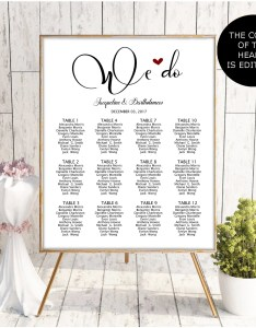 Wedding seating chart template printable board editable poster plan sign also navy blue etsy rh