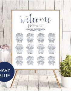 Image also navy blue seating chart wedding template etsy rh