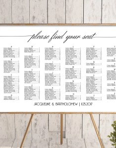Image also wedding alphabetical seating chart template printable etsy rh