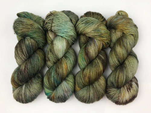 Hand Dyed Yarn Forest Floor OOAK Standard Sock base image 0