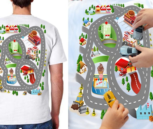 Car Play Shirt Fathers Day Gift From Son Back Massage Shirt Grandpa Gift Dad Gift For Dad Play Mat Shirt Back Rub Road Map Shirt