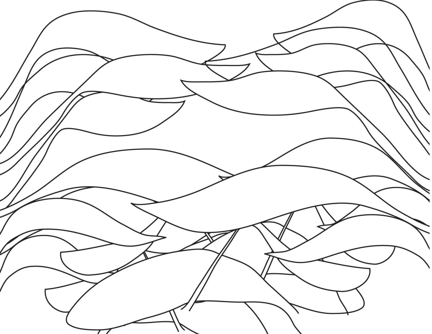 Adult Coloring Page-Ideas Blowing In The Wind Creative