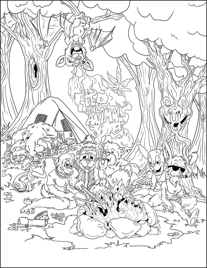 Stoner Inappropriate Coloring Pages For Adults : stoner, inappropriate, coloring, pages, adults, Mature, ContentStoner, GiftStoner, Color, PageWeed, ArtCannabis