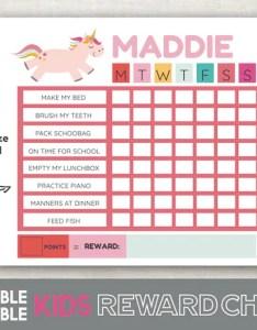 Image also printable reward chart unicorn fillable editable girl etsy rh