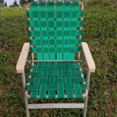 Webbed Folding Lawn Chairs Recliner Rocking Chair Vintage Retro Sun Terrace Green Aluminum Etsy Image 0