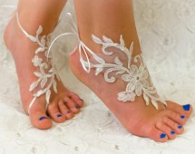 Barefoot Sandals Wedding Shoes Lace
