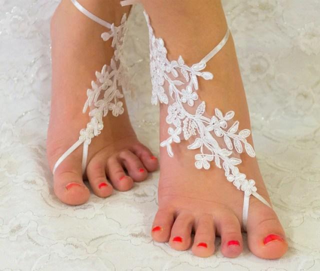 Barefoot Sandals White Wedding Accessories Wedding Gift Bridesmaid Gift Bride Gift Beach Wedding Barefoot Sandals Barefoot Sandles