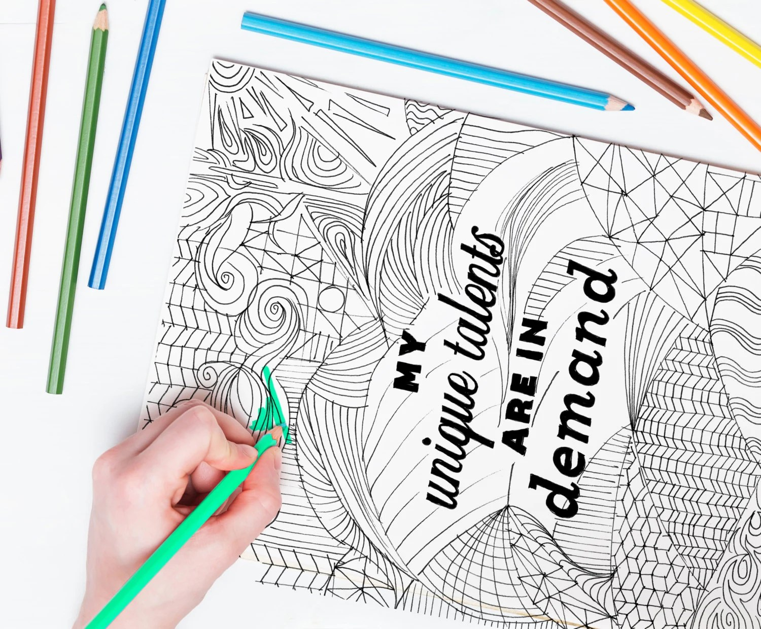 Positive Affirmation Coloring Page For Adults