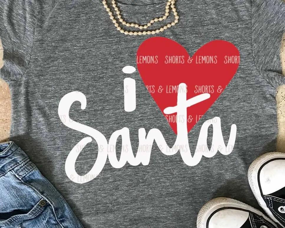 Download Santa svg i love Santa svg Christmas svg Christmas cut | Etsy