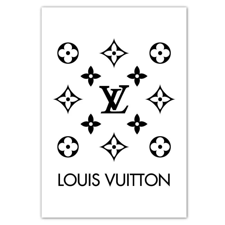 Louis Vuitton Poster LV affiche blanche mode dimpression