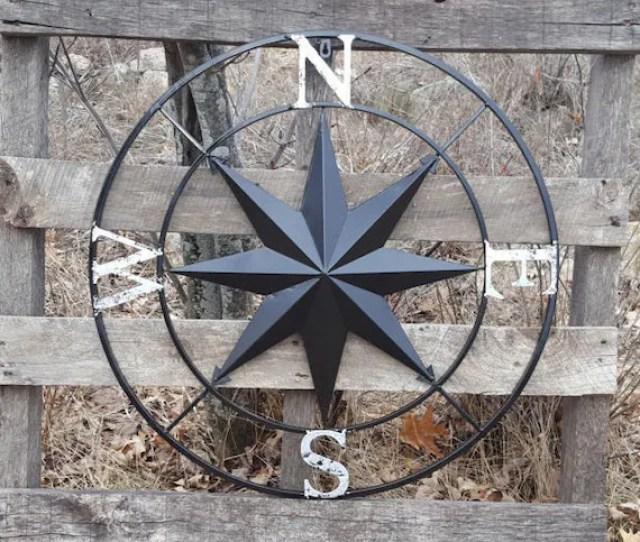 Nautical Compass Wall Art Nautical Decor Nautical Wall Art Etsy