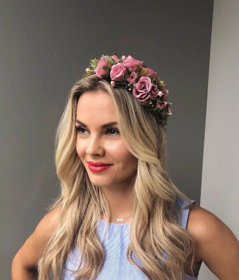 wedding flower crown wedding