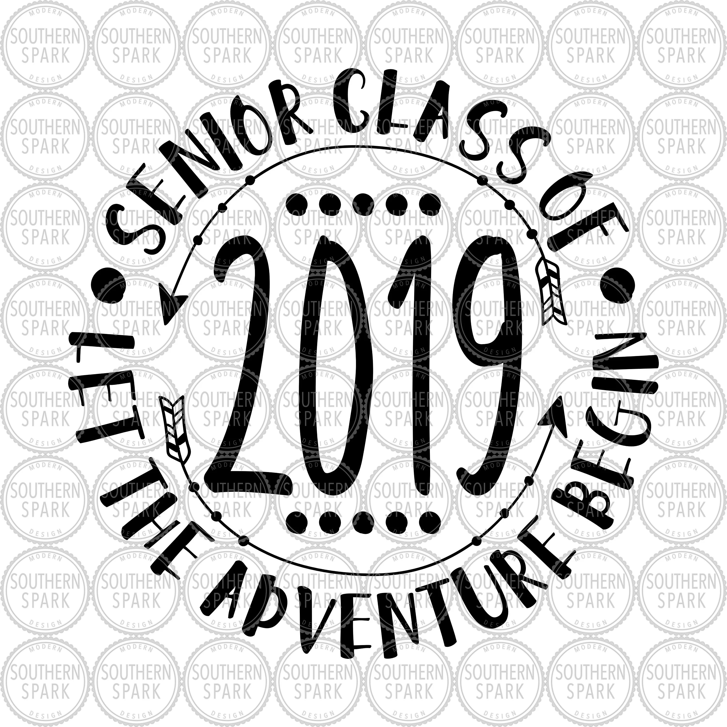 Senior Class Of 2019 Let The Adventure Begin svg png eps