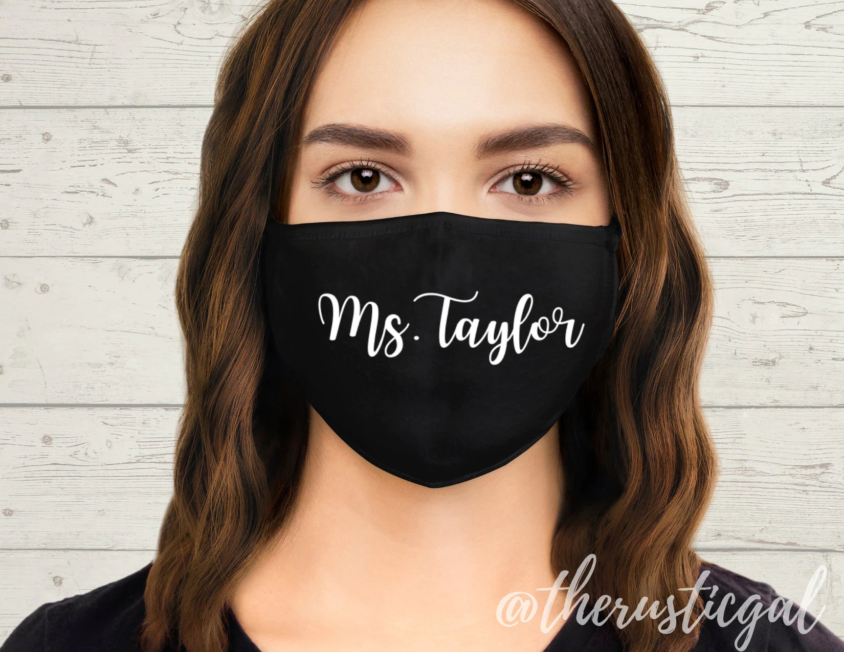 PERSONALIZED Teacher Name Face Mask  Funny Mask Face Cover  image 1