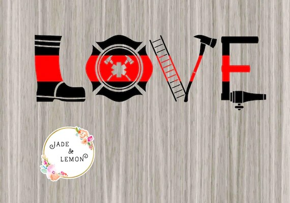 Download Firefighter Love Svg / Love Firefighter Badge Transparent ...