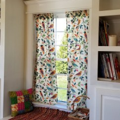 Curtains Kitchen End Cabinet Etsy Colorful Print Curtain Panels Window Treatments Birds Shabby Chic Vintage Drapery Drapes