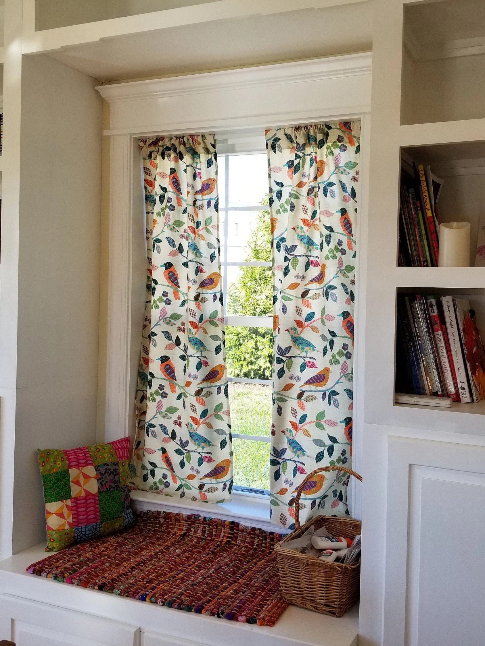kitchen curtians white decor curtains etsy colorful print curtain panels window treatments birds shabby chic vintage drapery drapes