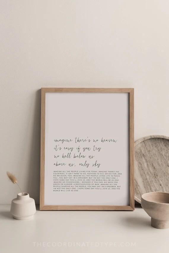 song lyrics print song lyrics wall art editable print song lyrics poster custom print personalized print printable quote the beatles