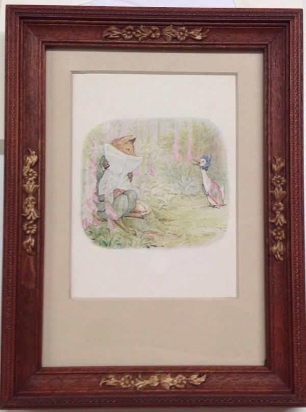 Antique Framed Original Beatrix Potter Illustration