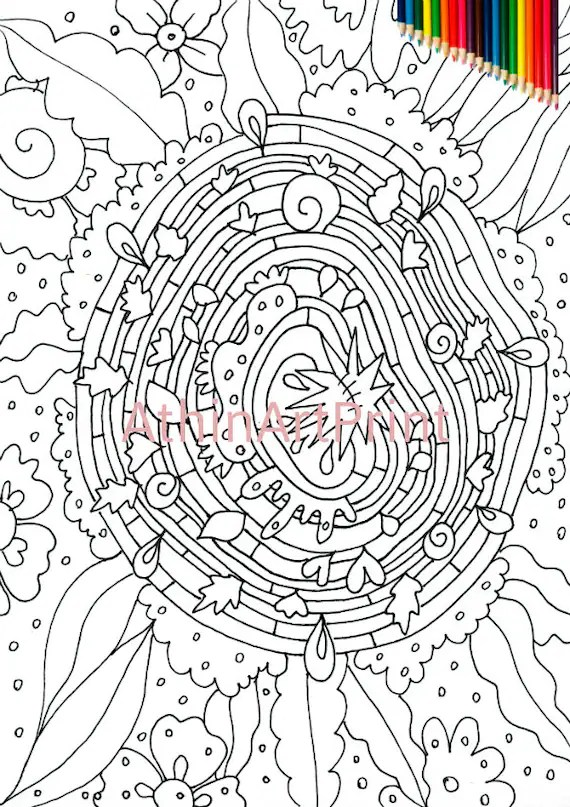 abstract coloring page # 19
