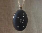 Crystal Virgo Necklace, Constellation Necklace w Swarovski Crystals, September Birthday gift for her Virgo Lucky Star Dreams