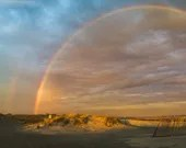 Wildwood Crest Panoramic Double Beach Rainbow, 5x15 Jersey Shore photography