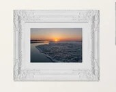 Coastal Sunrise with tide, Wildwood Crest Photography, Seascape Various Sizes, Framed, Unframed | Dream-like Photography, Lucky Star Dreams