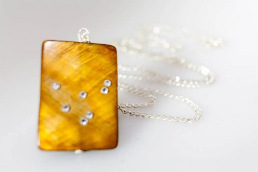 Amber Capricorn Necklace ...