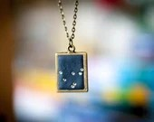 Capricorn Constellation Necklace w Swarovski Crystal Zodiac Stars    Lucky Star Dreams