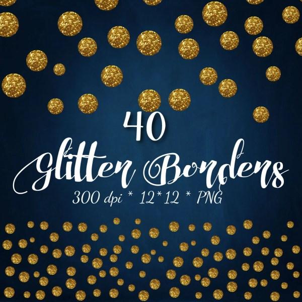 gold clipart glitter confetti digital