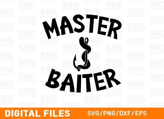 Download Master Baiter SVG Fishing SVG Hook and Worm | Etsy