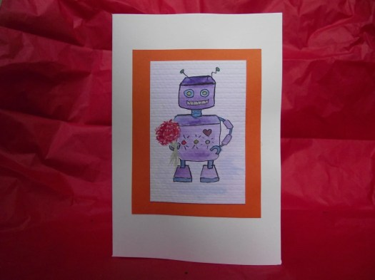 Happy Robot greeting card...
